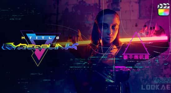 FCPX插件-55个赛博朋克酷炫科技感标题元素动画 mTitle Cyberpunk FCPX插件-第1张