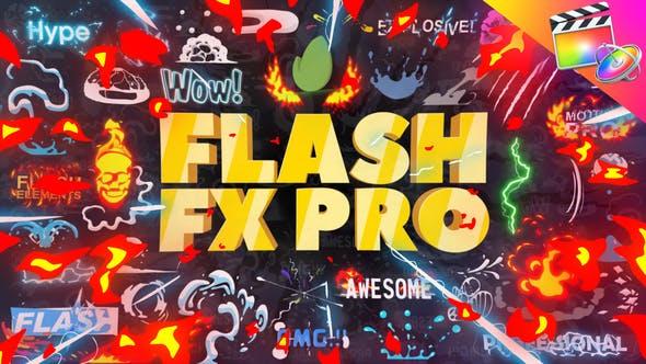 FCPX插件-374个二维卡通动漫火焰能量LOGO标题转场MG动画元素包 FCPX插件-第1张