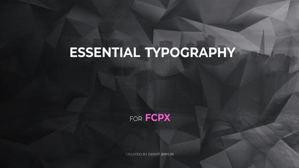 FCPX插件-30种简洁基本文字标题排版动画 Essential Typography FCPX插件-第1张