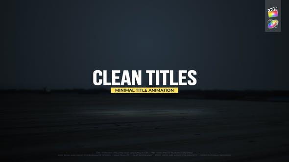 FCPX插件-20组现代简洁干净文字标题动画 Clean Titles FCPX插件-第1张