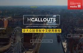 FCPX插件:50种自动跟踪线条呼出文字介绍动画 mCallouts Simple 2 + 使用教程