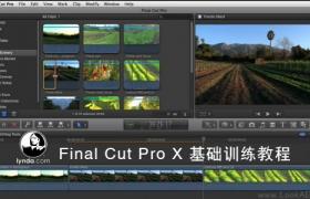 FCPX基础训练教程 Lynda-Final Cut Pro X Essential Training