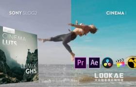 10组电影大片LUTS视频调色预设 Bounce Color CINEMATIC LUTs V-LOG(FCPX/PR/PS/AE/达芬奇/OFX)