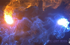 Apple Motion模板:震撼史诗粒子碰撞爆炸LOGO展示片头 Epic Light