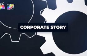 FCPX模板-公司企业图文宣传介绍动画开场包装 Corporate Story + 使用教程