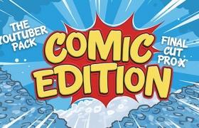 FCPX插件:卡通动漫LOGO标题转场字幕条包装动画包 Comic Edition + 使用教程