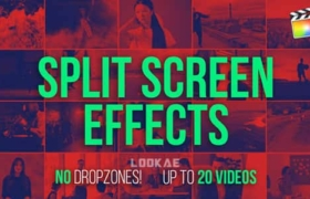 FCPX插件-9组多画面组合视频分屏动画预设 Split Screen Effects Kit V2 + 使用教程