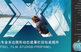 FCPX专业多边图形动态遮罩栏目包装插件:PROPANEL Vol.1