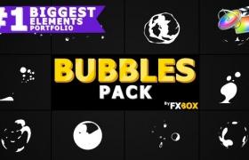 FCPX插件-10种气泡飞溅MG动画元素 Flash FX BUBBLE Elements
