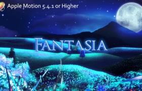 Apple Motion模板:梦幻儿童卡通相册图片展示 Fantasia
