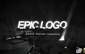 Apple Motion模板:地面爆炸破碎LOGO展示大气片头 Epic Logo