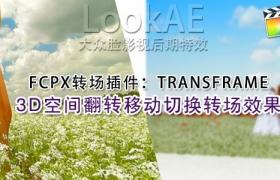 FCPX 转场插件:37组3D空间翻转移动切换转场效果 PFS – TRANSFRAME