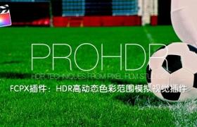 FCPX插件:HDR高动态色彩范围模拟视觉插件 PFS – PROHDR + 使用教程