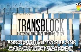 FCPX 转场插件:112组三维立体方格翻转切换转场动画 PFS – TRANSBLOCK