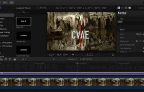 FCPX教程:创建文字标题和特效 Final Cut Pro X Guru: Titles and Effects