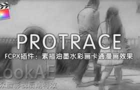 FCPX插件:素描油墨水彩画卡通漫画艺术效果 PFS – PROTRACE + 使用教程