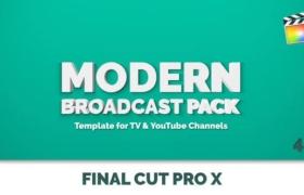 FCPX插件-49个现代彩色图形电视节目栏目包装动画 Modern Broadcast Pack