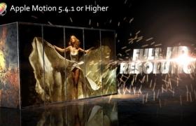 Apple Motion模板-大气火星粒子图文宣传片开场 Metal Impact