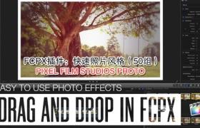 FCPX插件:50组画面快速照片复古调色风格 PIXEL FILM STUDIOS PROTO