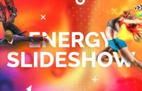 FCPX模板-能量活力动感图文介绍展示开场 Energy Slideshow