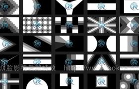 FCPX转场插件:40种多边形图形遮罩转场 第1季