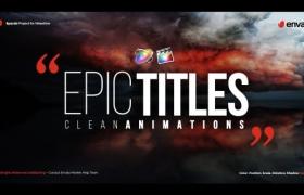 FCPX插件-20种史诗震撼大气文字标题动画 Epic Titles For Final Cut Pro X+使用教程