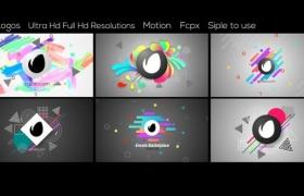FCPX插件-6个抽象图形LOGO简洁片头 Abstract Logos