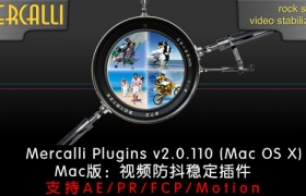 MAC版:AE/PR/FCP/Motion防抖稳定插件:ProDAD Mercalli v2.0.110