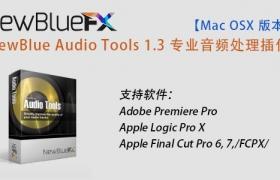 【Mac版本】NewBlue Audio Tools 1.3 专业音频处理插件(支持FCPX/PR/LPX)