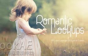 Win/Mac版:50组唯美浪漫LUTs电影风格调色预设 50 Romantic Lookups