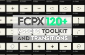FCPX插件:24个视觉特效+100个转场动作预设 Assets Toolkit and Transitions