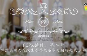 FCPX插件:第二季 10组漂亮时尚花纹生长婚礼名字日期标题动画 LookAE – 婚礼标题 2