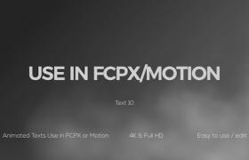 FCPX插件-10种干扰失真文字标题动画 Glitch Animated Titles