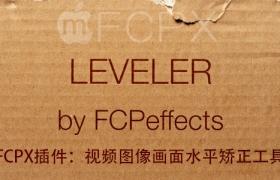 FCPX插件:��l�D像��面水冷光平�C正工具 FCPEffects Leveler