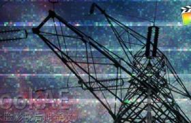 FCPX转场插件:信号噪波图像闪烁干扰特效转场 TranStatic