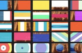 FCPX插件 – 25种简单干净基本彩色图形过渡转场动画 支持4K