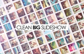 Apple Motion模板-多图片照片墙相册展示Clean Big Slideshow