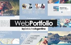 Apple Motion模板-公司企业网络宣传推广介绍包装Web Portfolio