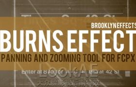 FCPX插件:��面定�c局部放大平移》效果 Brooklyn Effects – Burns Effect