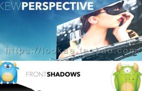 FCPX插件:三维透视替换屏幕画面反射倒影插件 PROSKEW
