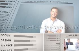 FCPX主题插件:公司企业员工个人信息简介包装 Resume Reel