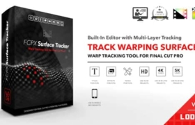 FCPX插件-物体曲面自动跟踪特效合成高级工具 FCPX Surface Tracker