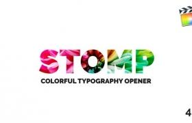 FCPX模版-轻快欢乐节奏快闪剪辑图文展示开场片头 Stomp Opener
