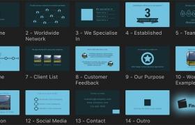 FCPX插件-14种公司企业单位工作室宣传推广介绍文字标题 Company Promo+使用教程