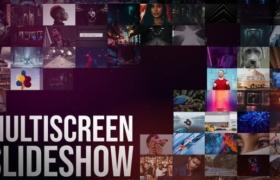 FCPX插件-11个多画面网格视频墙场景动画 Multiscreen Slideshow