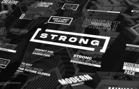 FCPX插件-30种纯色文字标题排版动画 Strong Titles