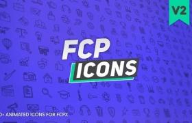 FCPX插件-250个创意社交媒体网络交通设备体育生活食物图标动画