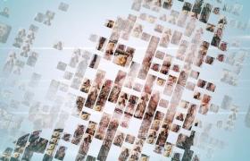 FCPX插件-众多图片汇聚LOGO标题片头动画 Simple Mosaic Logo