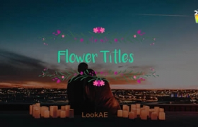 FCPX插件-5组小清新浪漫爱情花卉文字标题动画 Flower Titles + 使用教程