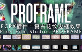 FCPX插件:复古花纹边框效果 Pixel Film Studios PROFRAME